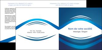 realiser depliant 2 volets  4 pages  web design texture contexture structure MLGI87446