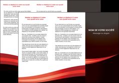 personnaliser maquette depliant 3 volets  6 pages  web design texture contexture structure MLGI87616