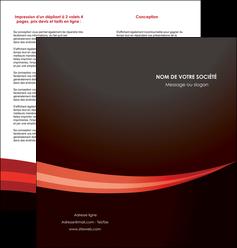 personnaliser modele de depliant 2 volets  4 pages  web design texture contexture structure MLGI87618