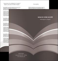 realiser depliant 2 volets  4 pages  web design texture contexture structure MLGI88120