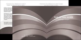 faire depliant 2 volets  4 pages  web design texture contexture structure MLGI88122