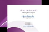 realiser carte de visite web design abstrait violet violette MLGI88318