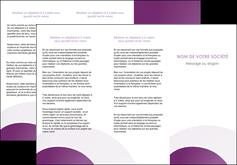 personnaliser maquette depliant 3 volets  6 pages  web design abstrait violet violette MLGI88326