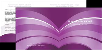 faire depliant 2 volets  4 pages  web design abstrait violet violette MLGI88330
