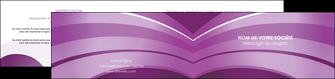 impression depliant 2 volets  4 pages  web design abstrait violet violette MLGI88336