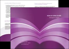 impression depliant 2 volets  4 pages  web design abstrait violet violette MLGI88340