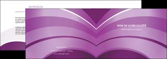 faire depliant 2 volets  4 pages  web design abstrait violet violette MLGI88344