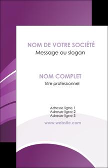faire carte de visite web design abstrait violet violette MLGI88350