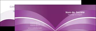 faire carte de visite web design abstrait violet violette MLGI88352