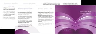personnaliser maquette depliant 4 volets  8 pages  web design abstrait violet violette MLGI88362