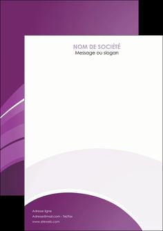 faire modele a imprimer flyers web design abstrait violet violette MLGI88364