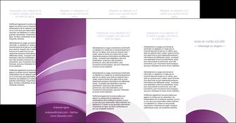 imprimerie depliant 4 volets  8 pages  web design abstrait violet violette MLGI88366