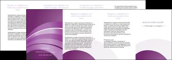 maquette en ligne a personnaliser depliant 4 volets  8 pages  web design abstrait violet violette MLGI88368