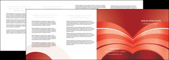 creer modele en ligne depliant 4 volets  8 pages  web design texture contexture structure MLGI88414