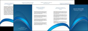 realiser depliant 4 volets  8 pages  web design texture contexture structure MLGI88776