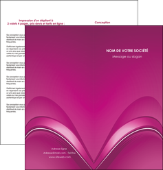 faire depliant 2 volets  4 pages  web design texture contexture structure MLGI88866