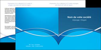 exemple depliant 2 volets  4 pages  web design texture contexture structure MLGI88954