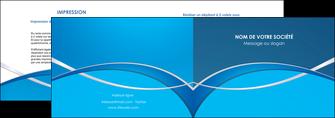 realiser depliant 2 volets  4 pages  web design texture contexture structure MLGI88968