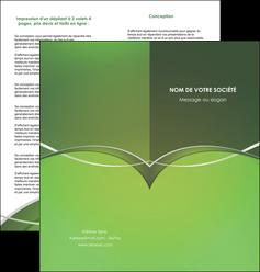 creer modele en ligne depliant 2 volets  4 pages  web design texture contexture structure MIF89602