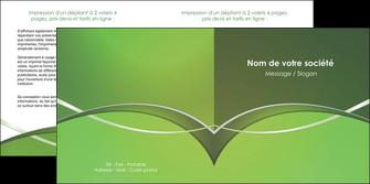 imprimerie depliant 2 volets  4 pages  web design texture contexture structure MIF89604