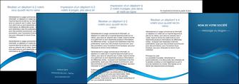 cree depliant 4 volets  8 pages  web design texture contexture structure MLIP90130