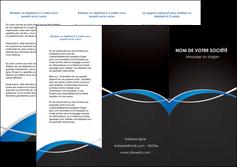 impression depliant 3 volets  6 pages  reseaux texture contexture structure MIS90864