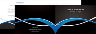 modele en ligne depliant 2 volets  4 pages  reseaux texture contexture structure MLGI90884