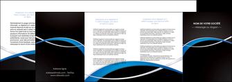 realiser depliant 4 volets  8 pages  reseaux texture contexture structure MIS90900
