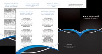 faire modele a imprimer depliant 4 volets  8 pages  reseaux texture contexture structure MIS90904
