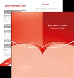 personnaliser maquette depliant 2 volets  4 pages  web design texture contexture abstrait MIF91448