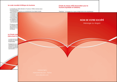 exemple depliant 2 volets  4 pages  web design texture contexture abstrait MIF91460