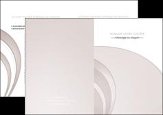 realiser depliant 2 volets  4 pages  web design texture contexture structure MLGI92424
