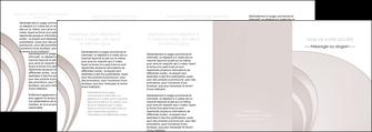 creer modele en ligne depliant 4 volets  8 pages  web design texture contexture structure MLGI92452