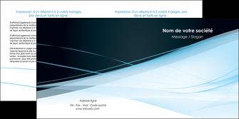 faire depliant 2 volets  4 pages  web design texture contexture structure MLGI92796