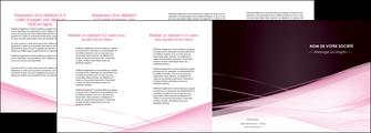 realiser depliant 4 volets  8 pages  web design texture contexture structure MLGI92914