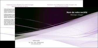 faire depliant 2 volets  4 pages  reseaux texture contexture structure MLGI93080
