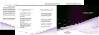 exemple depliant 4 volets  8 pages  reseaux texture contexture structure MLGI93094