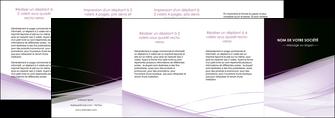 personnaliser modele de depliant 4 volets  8 pages  reseaux texture contexture structure MLGI93100