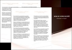 realiser depliant 3 volets  6 pages  web design texture contexture structure MLGI93468