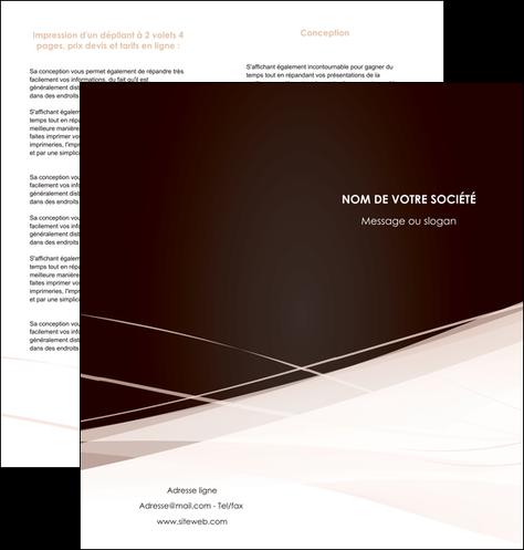 cree depliant 2 volets  4 pages  web design texture contexture structure MLGI93470