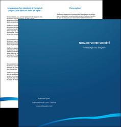 creer modele en ligne depliant 2 volets  4 pages  web design texture contexture structure MLGI93504