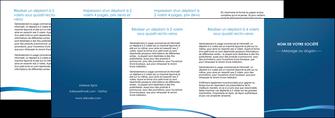 impression depliant 4 volets  8 pages  web design texture contexture structure MLGI93544