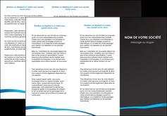 cree depliant 3 volets  6 pages  web design texture contexture structure MLGI93722