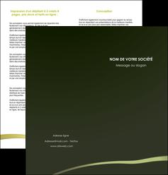 faire depliant 2 volets  4 pages  web design texture contexture structure MLGI93880
