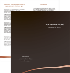exemple depliant 2 volets  4 pages  web design texture contexture structure MID93962