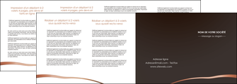 cree depliant 4 volets  8 pages  web design texture contexture structure MLGI93996