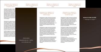 realiser depliant 4 volets  8 pages  web design texture contexture structure MID94000