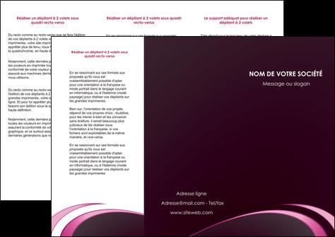 creation graphique en ligne depliant 3 volets  6 pages  contexture structure fond MLGI94312