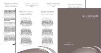 impression depliant 4 volets  8 pages  web design texture contexture structure MLIG94560