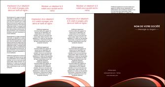 faire depliant 4 volets  8 pages  web design texture contexture structure MLGI94838